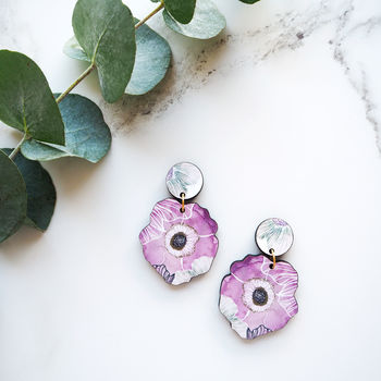Statement Flower Blossom Earrings