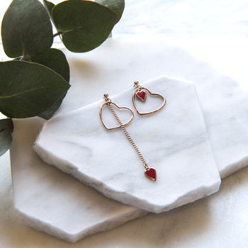 Asymmetric Heart Earrings