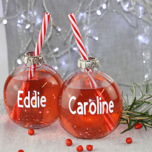 Personalised Christmas Bauble Drinking Glass - decoration