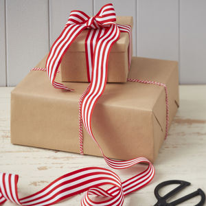 Festive Red And White Ribbon And Twine Kit - wrapping