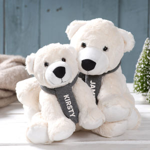 Personalised Polar Bear Family - teddy bears