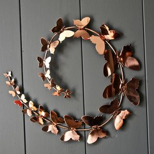 Copper Butterfly Wall Art - art & decorations