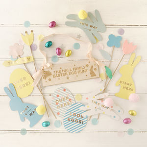 Easter Egg Treasure Hunt With Personalised Sign - children's easter
