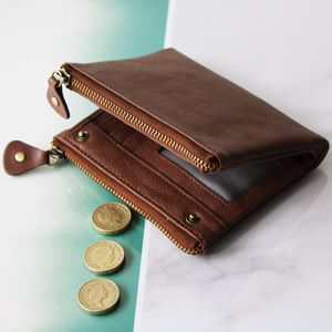 Personalised Classic Luxury Leather Wallet - wallets