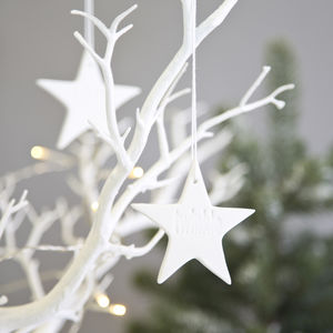 Ceramic Twinkle Star Decoration