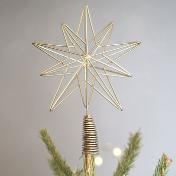 Brass Geometric Tree Topper