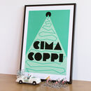 Art Deco Cycling Print 'Cima Coppi'