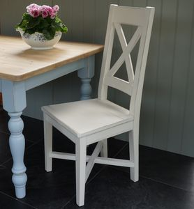 Cross Back Chair Hand Painted In Any Colour - chairs