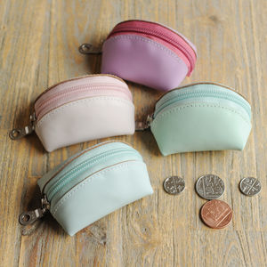 Undercover Leather Tiny Coin Purse - pastel accessories