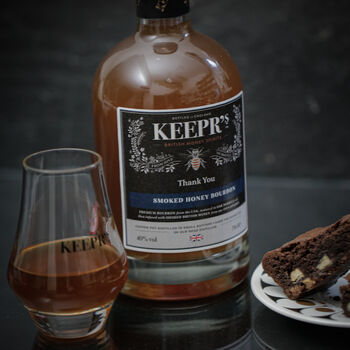 Personalised Smoked Honey Bourbon With A Bottle Light