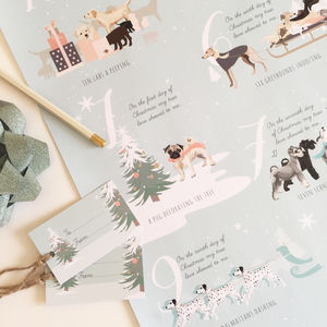 '12 Dogs Of Christmas' Wrapping Paper Pack - christmas sale