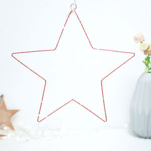 Hanging Copper Star Fairy Light Christmas Decoration - tree decorations