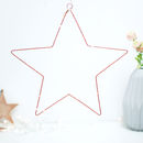 Hanging Copper Star Fairy Light Christmas Decoration