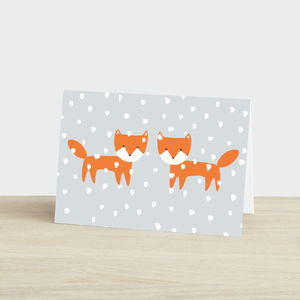 Christmas Foxes Card - cards & wrap