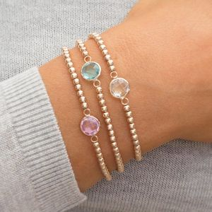 Personalised Skinny Birthstone Bracelet - summer jewellery