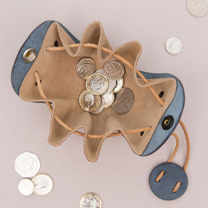 Leather Coin Or Money Purse - money clips