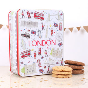 London Icons Embossed Tin Of Biscuits - kitchen
