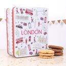 London Icons Embossed Tin Of Biscuits
