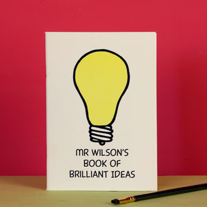 Teacher's Thank You Gift Brilliant Ideas Notebook - personalised