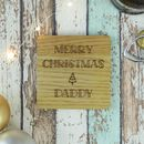Daddy Merry Christmas Personalised Engraved Coaster