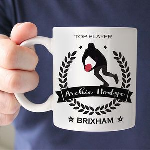 Personalised 'Rugby' Champion Mug