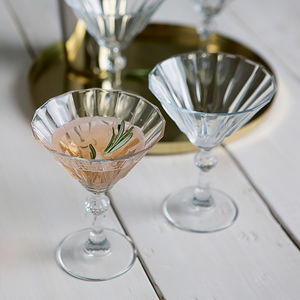 Set Of Two Deco Cocktail Glasses - gifts for friends