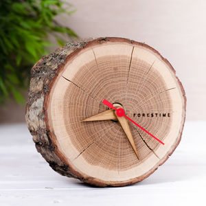 Freestanding Oak Wooden Clock - 5th anniversary: wood