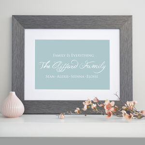 Personalised Family Is Everything Art Print - family & home