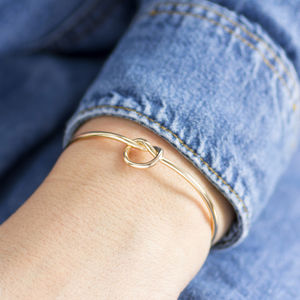 Friendship Knot Bangle - bracelets & bangles
