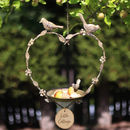 Personalised Heart Garden Bird Feeder Gift