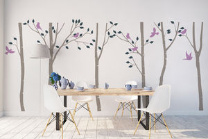 Birch Tree Forest Wall Stickers - decorative accessories