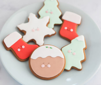 Six Cute Christmas Biscuit Gift Set