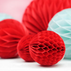 Red Honeycomb Party Decorations