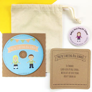 First Day At School CD And Badge Gift Set