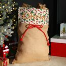 Personalised Christmas Candy Cane Gift Sack