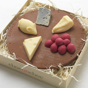 Miniature Chocolate Cheese Board - novelty chocolates