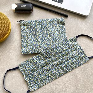 Liberty Print Face Mask And Zip Pouch