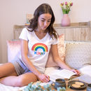 Personalised Rainbow Women's Pyjamas
