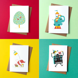 Greetings Cards By Peskimo Collection Of Four