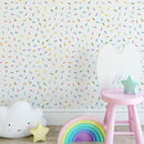 Multi Coloured Rainbow Drops Self Adhesive Wallpaper