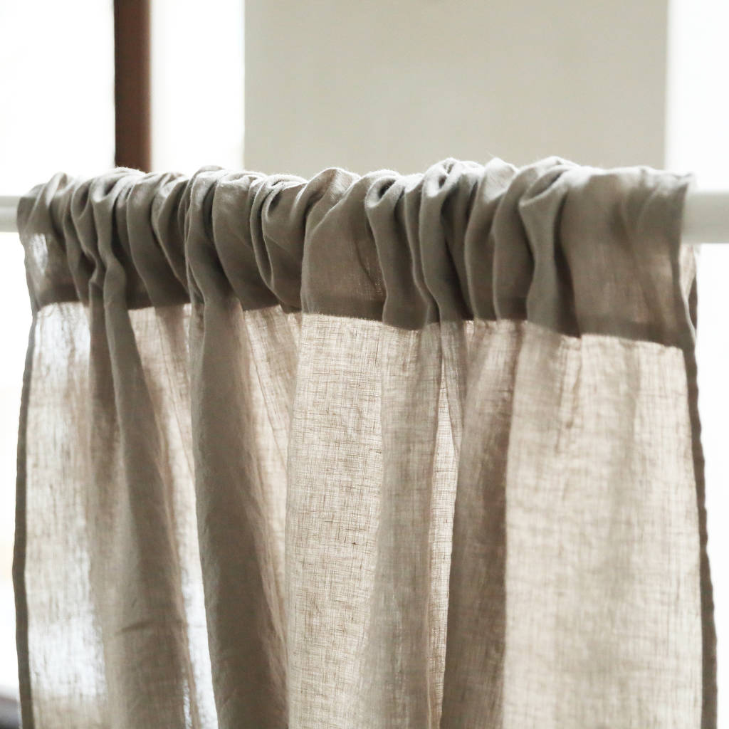relaxed denim in natural blackout curtain pleat portugal secret curtains linen made pencil
