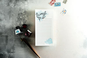 'Things To Do' Letterpress List Pad