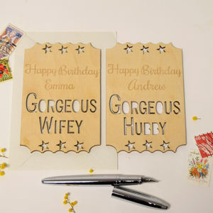 Personalised Wife/Husband Birthday Ticket - birthday cards