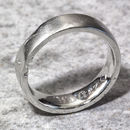 Sterling Silver Personalised 6mm Flat Sand Cast Ring