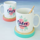 Personalised Bridal Party Rose Mug
