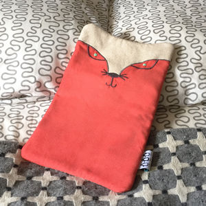 Gary The Fox Hot Water Bottle - bedroom