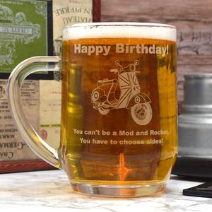 Personalised Tankard With A Scooter Design
