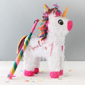 Personalised Unicorn Party Piñata - children's birthday