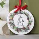 Personalised Family Ceramic Christmas Door Wreath