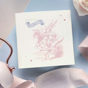 Adorable Alice Thank You Card - christening invitations